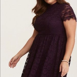 Deep purple skater dress